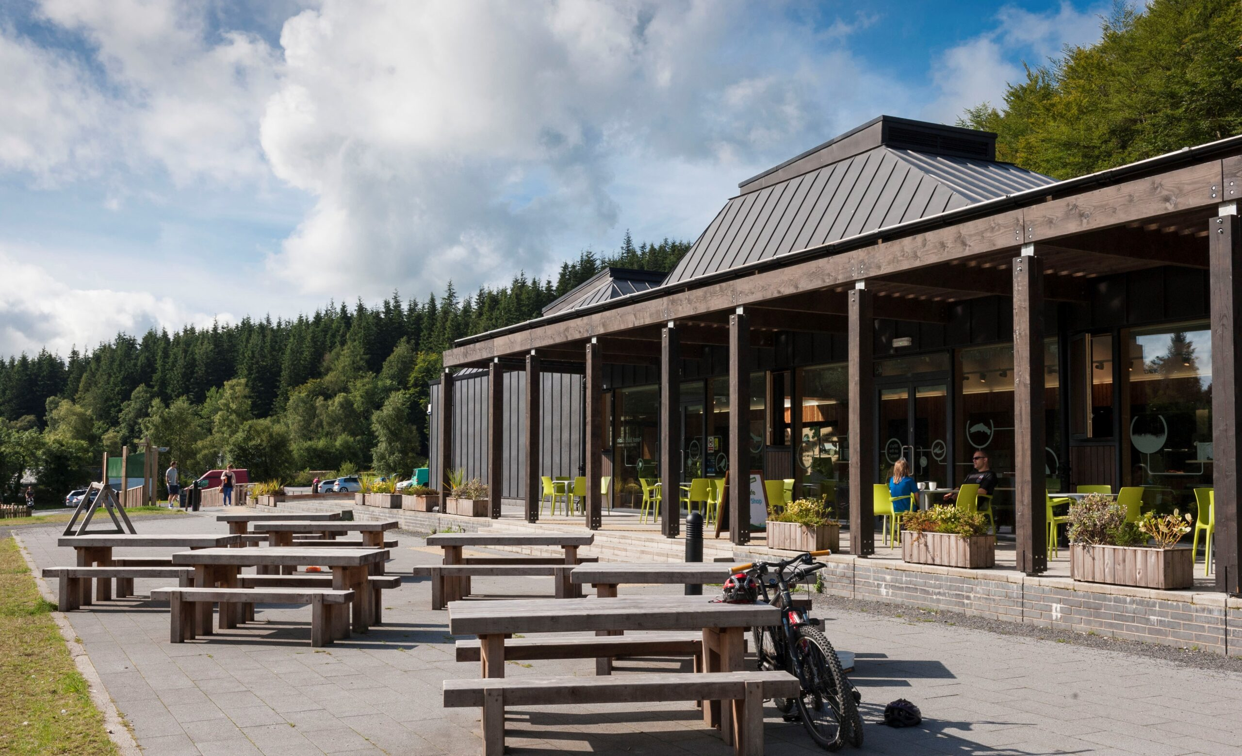 Image showing Kirroughtree Visitor Centre, Galloway Forest Park