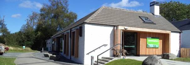 Image showing Clatteringshaws Visitor Centre, Galloway Forest Park