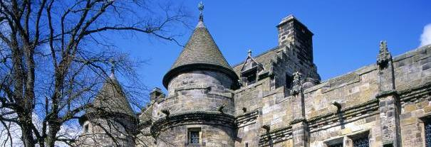 Image showing Falkland Palace, Garden & Town Hall